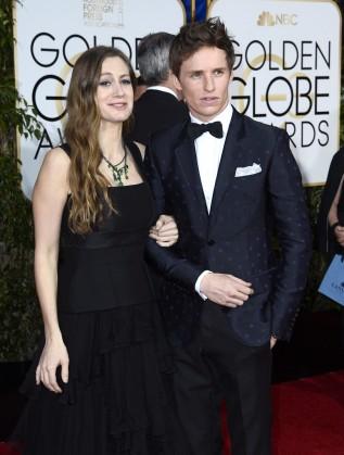 """Еди Редмейн и съпругата му на """"Златния глобус"""""""