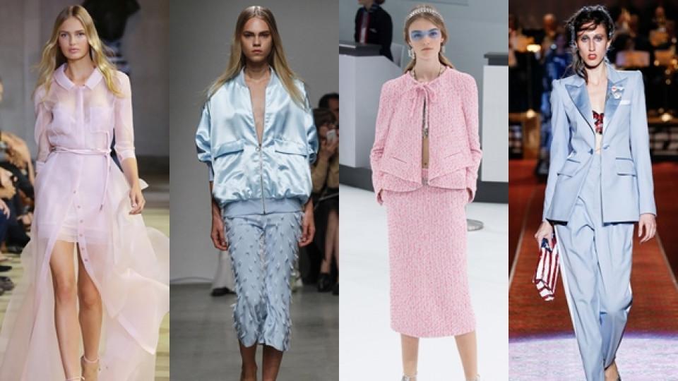 Розов кварц срещу ведро синьо в модата за 2016-а