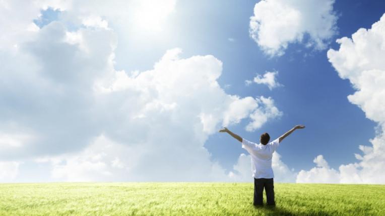 щастие позитивизъм простор небе