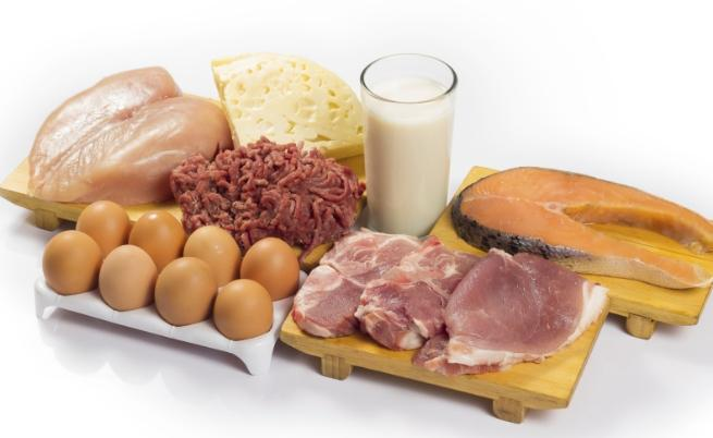храна протеини месо мляко