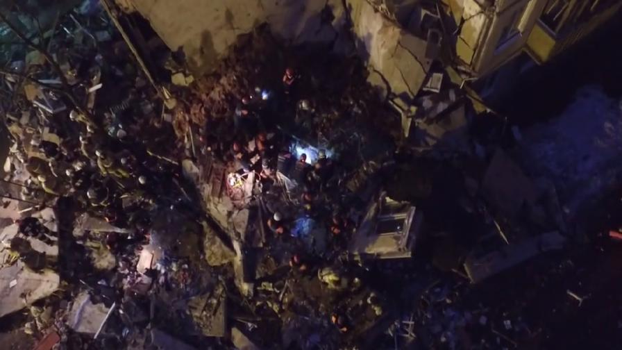 Взрив разруши блок в Русия