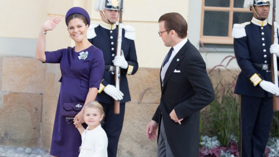 Принцеса Виктория, принц Даниел и дъщеря им принцеса Естел