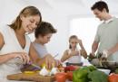 семейство дом кухня храна готвене