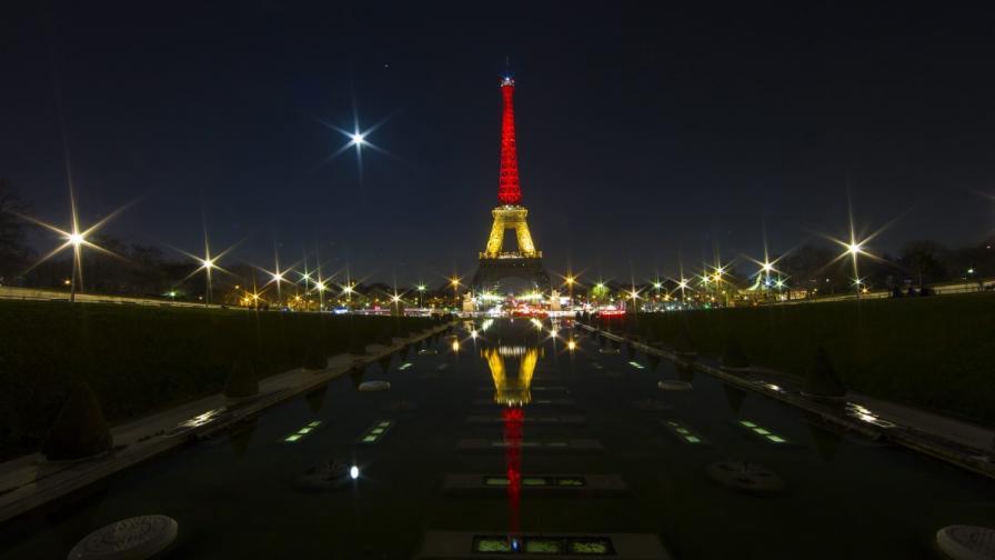 Целият свят се смълча пред терора - редица страни почетоха Белгия с цветовете на флага върху забележителностите си