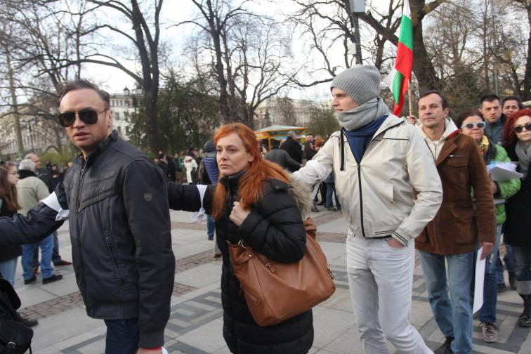 Протест в Международния ден на театъра