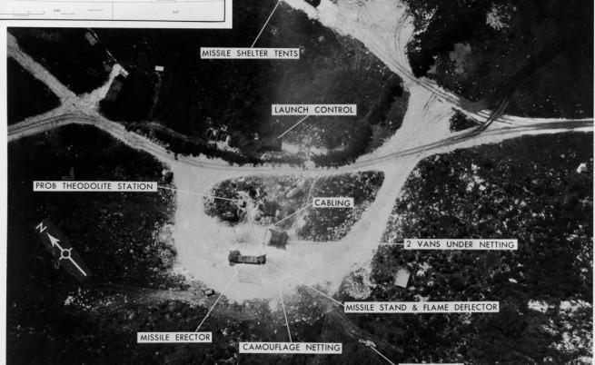 Разположение на съветските балистични ракети в Куба