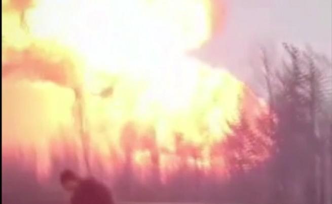 Камион взриви газопровод в Русия
