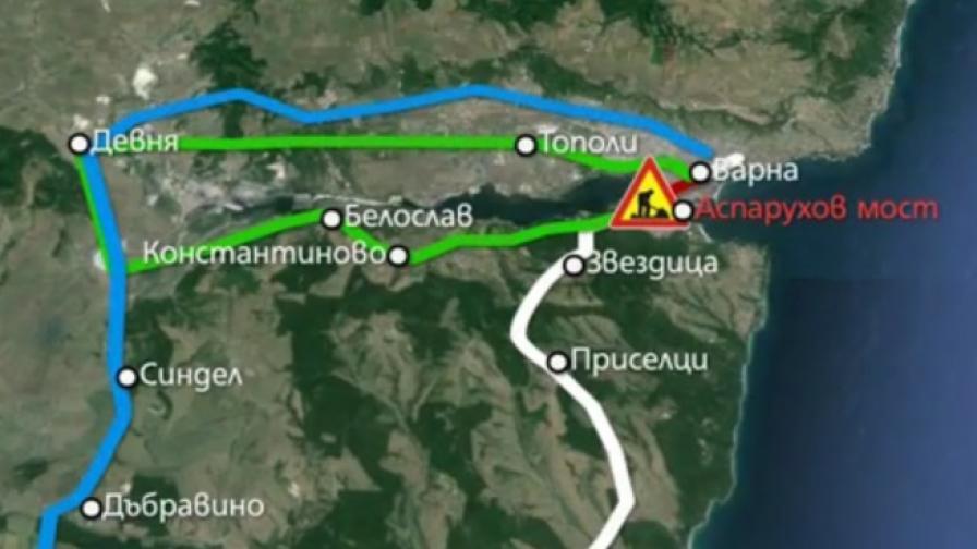 Огромните задръствания във Варна до началото на юни