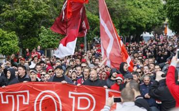 ВИДЕО: Началото на протеста на феновете на ЦСКА