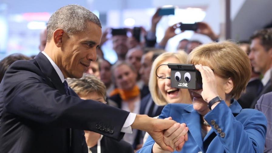 Обама: Меркел е мой приятел, Русия действа силово