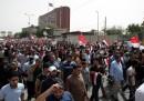 Протест на привърженици на Муктада Садр в центъра на Багдад