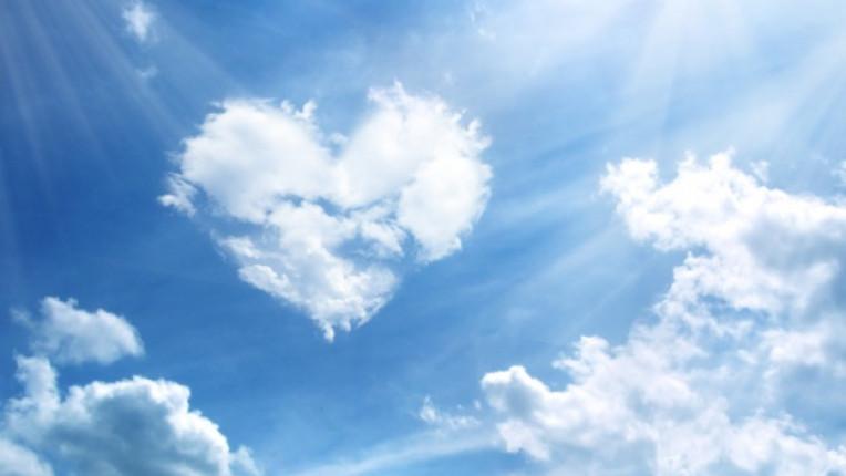 небе сърце любов