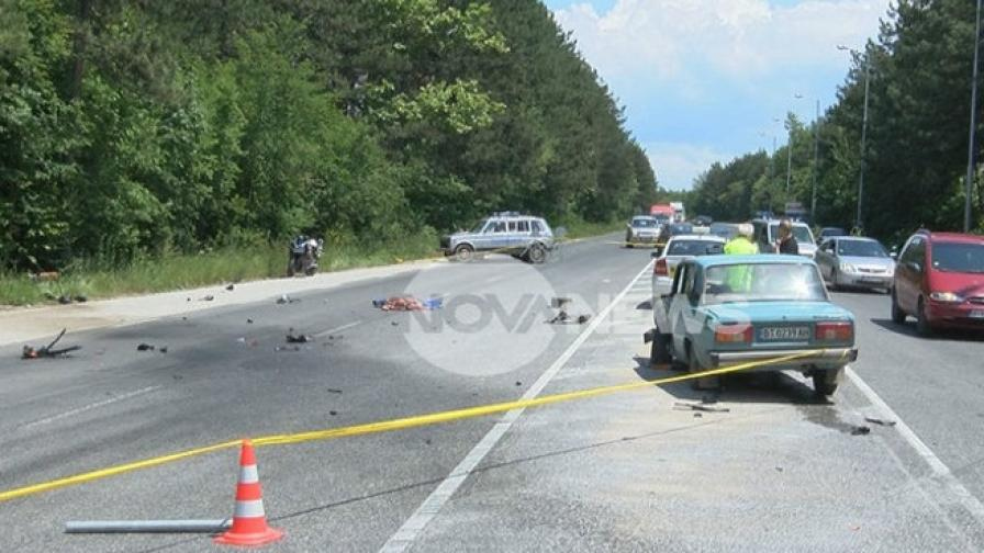 Жена загина в катастрофа на пътя София-Варна