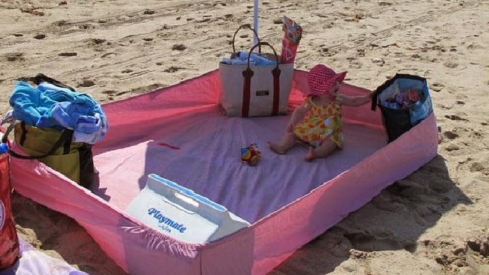 Как да направите безопасно място за бебето си на плажа