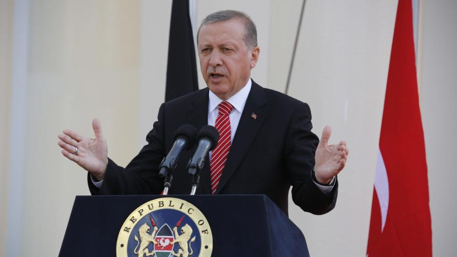 Ердоган: Никой не трябва да тества търпението ни
