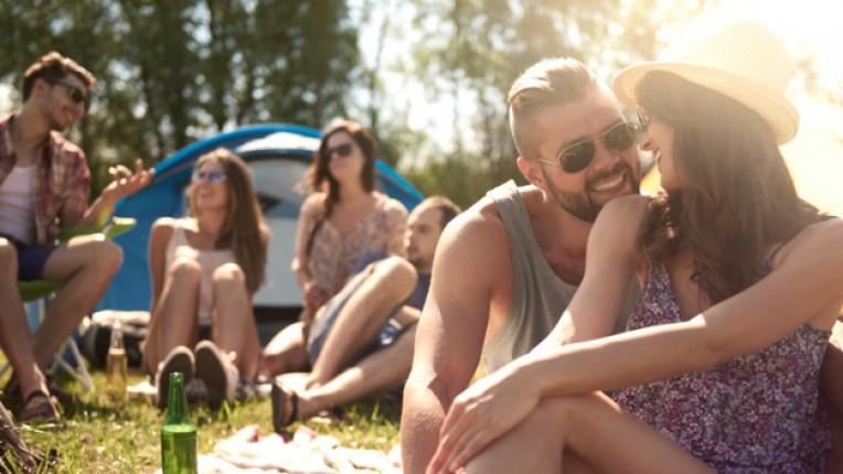 двойка лято любов щастие