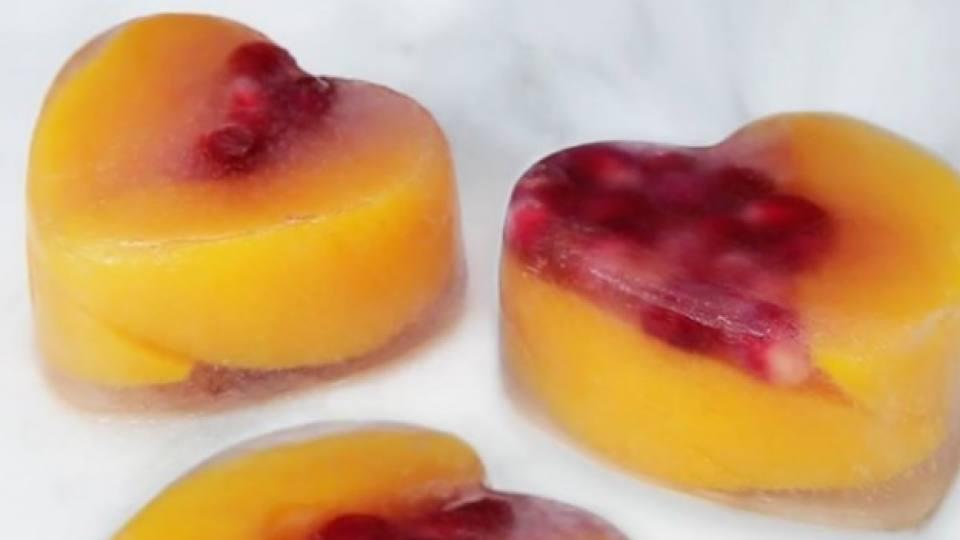 Как да си направим плодов лед във формата на сърце