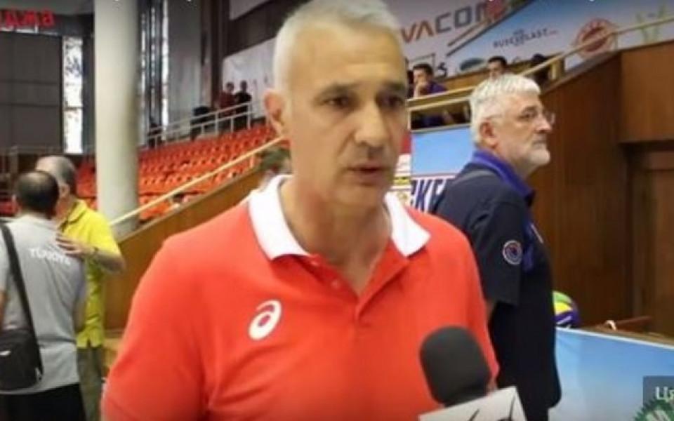 Треньорът на волейболните юноши: Ще дадем всичко за титлата