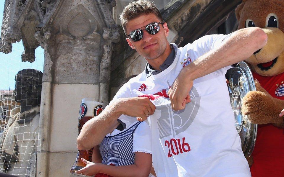 Томас Мюлер: Ще е по-забавно да бием Дортмунд тази година