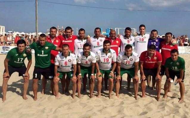 Националите по плажен футбол<strong> източник: Ивайло Борисов/LAP.bg</strong>