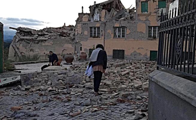 Последиците от земетресението в Италия.
