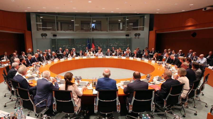 Срещата на Ангела Меркел с представители на най-големите компании в Германия