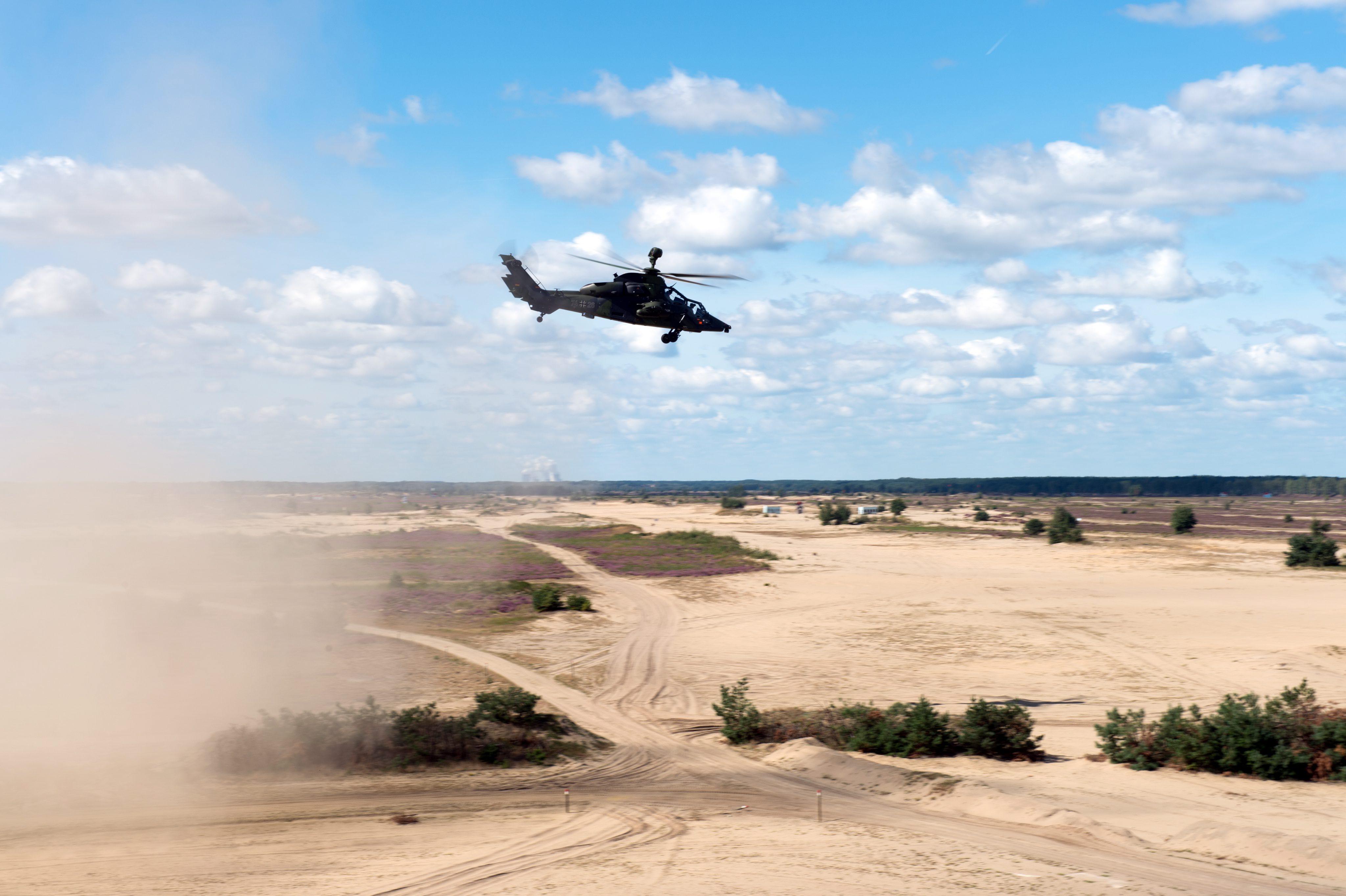 """Германски боен хеликоптер Regiment 36 """"Kurhessen"""" с кодово име """"Тигър"""""""