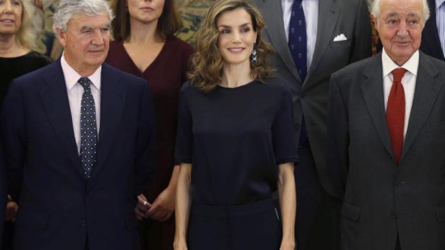"""Испанската кралица по """"анцуг"""" на официално събитие"""