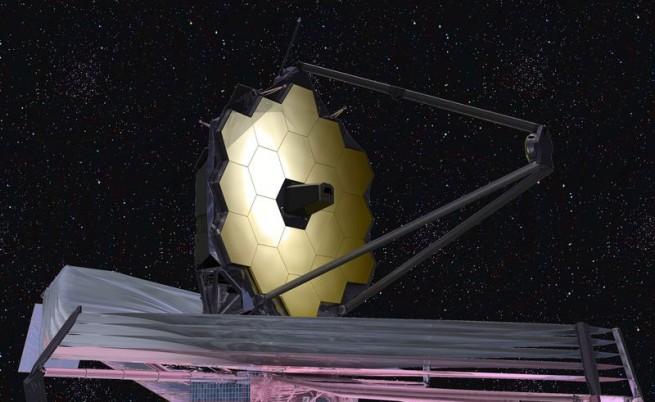 """Илюстрация на космическия телескоп """"Джеймс Уеб"""""""