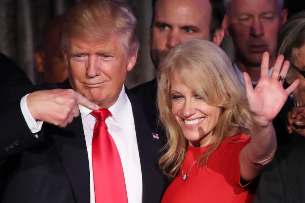 - Келиан Конуей е на 49 г. Тя ръководеше предизборната кампания на Тръмп и в нощта на изборите милиардерът специално ѝ благодари. Конуей е майка на...