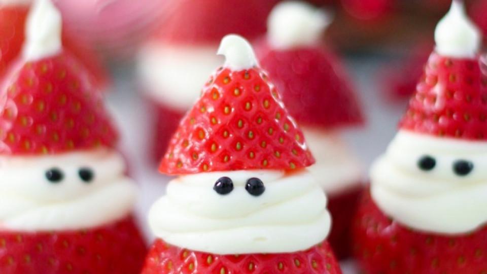 Украсете трапезата си с ягодов Дядо Коледа
