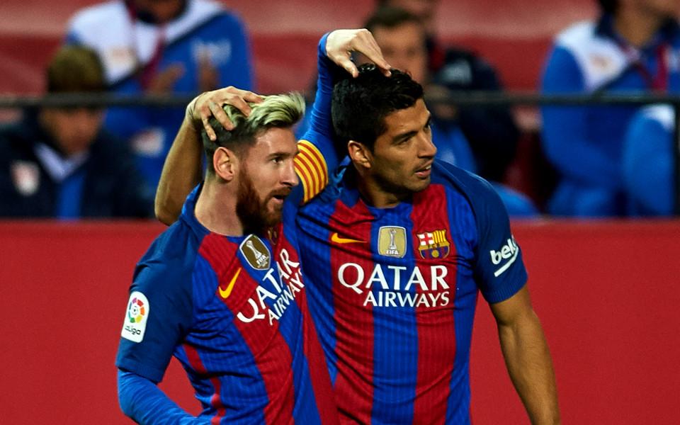 Какво са си казали Меси и Суарес след дузпата срещу Валенсия?