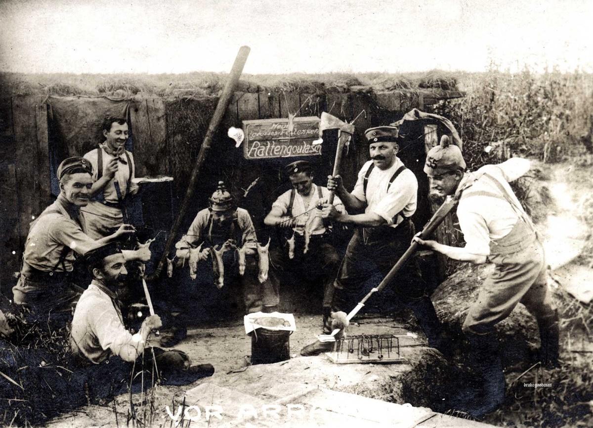 Отвратени и безсилни срещу плъховете, много военни използват пушките си, за да ги изтребват. Други пък ги убиват с ножове.