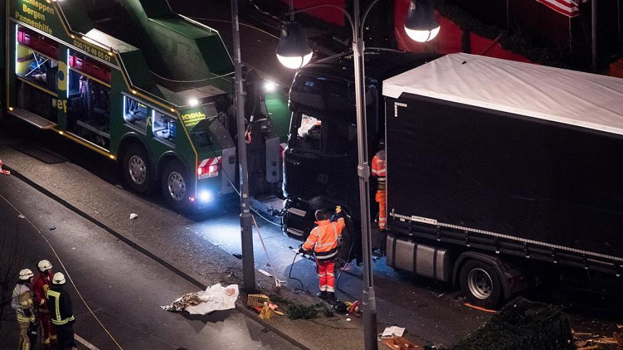 Защитна система спряла камиона убиец в Берлин