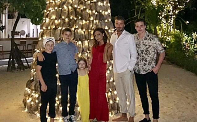 Семейство Бекъм на Малдивите<strong> източник: instagram.com/davidbeckham</strong>
