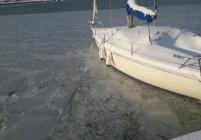 Морето край Бургас замръзна след повече от половин век