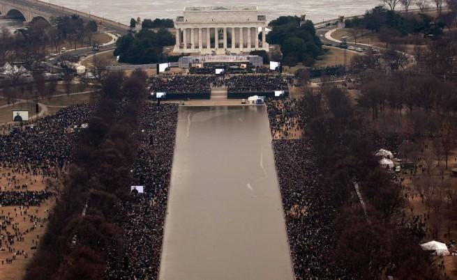 Огромната тълпа за клетвата на Барак Обама