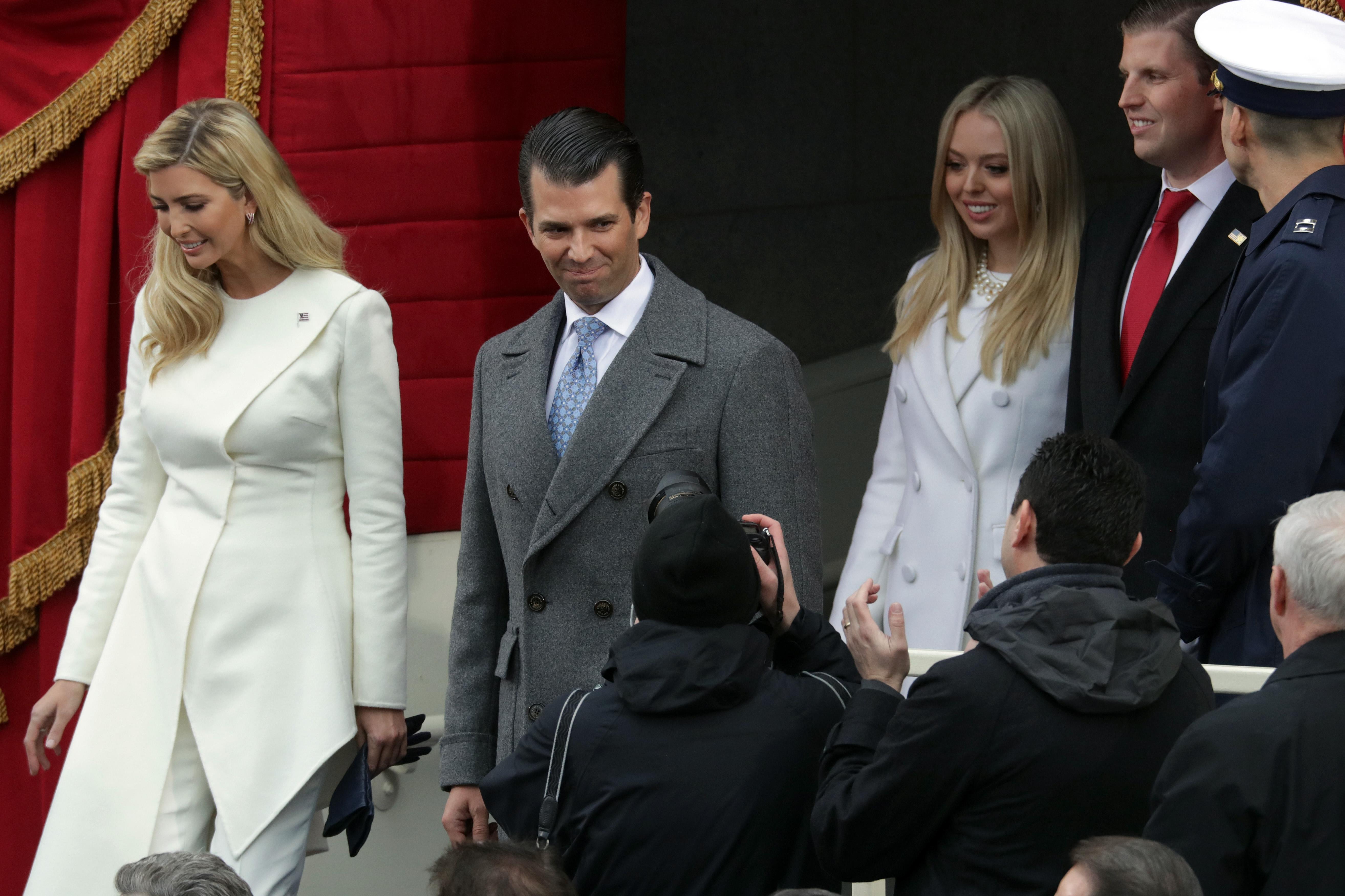 Цялото семейство на Доналд Тръмп пристигна на Капитолия