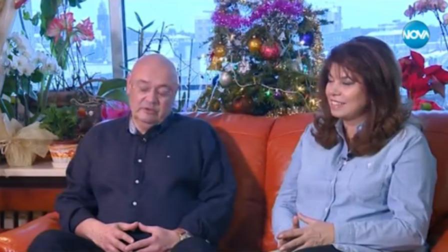 Говорят Илияна Йотова и мъжът до нея