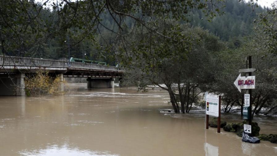 Торнада, бури и жертви, Калифорния бедства от месец