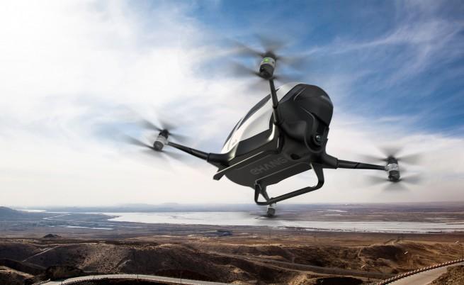 Автономният дрон EHang 184