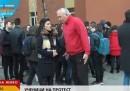 Ученици излязоха на протест заради изключен съученик