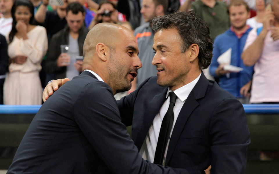 Гуардиола съжалява, че Луис Енрике напуска Барселона