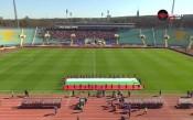 Химнът и огромен трибагреник за начало на Левски - ЦСКА