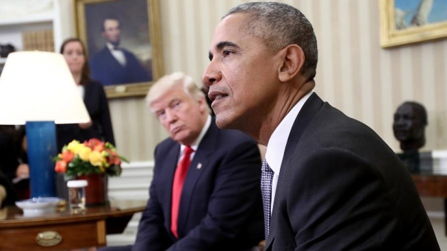 Обама бесен на Тръмп