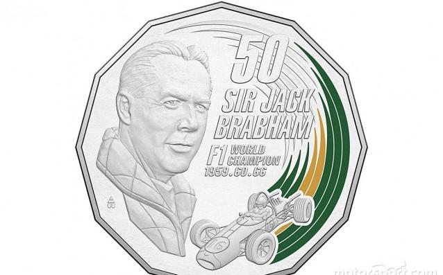Юбилейната монета с лика на Джак Брабам източник: twitter.com/MattyBrabs