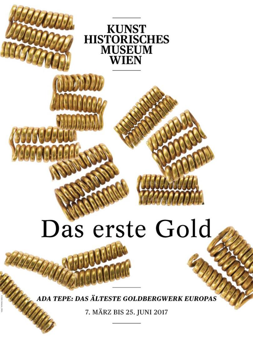 """Уникално българско злато в момента е изложено във виенския Музей за история на изкуството.""""Първото злато. Ада тепе: най-древният златодобивен рудник в Европа"""" включва 333 находки, между които златни накити и съдове, бронзови сечива и оръжия, слитъци от бронз, калъпи за изливане на бронзовите предмети, малък брой сребърни накити."""