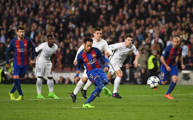 Неймар изпълнява дузпа за Барселона източник: Gulliver/Getty Images