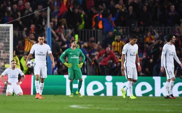 Пари Сен Жермен бе съкрушен в края на мача. източник: Gulliver/Getty Images