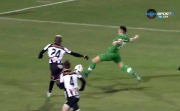 Първият гол на Клаудиу Кешеру срещу Локо ГО